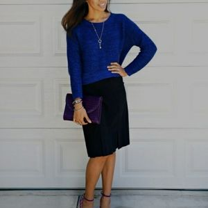 CLUB MONACO Italian Yarn Royal Blue Sweater XS